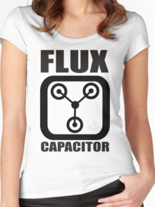 FLUX CAPACITOR TSHIRT Funny BACK TO THE FUTURE TEE Humor 80s DOC BROWN Marty VTG Women's Fitted Scoop T-Shirt