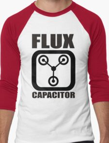 FLUX CAPACITOR TSHIRT Funny BACK TO THE FUTURE TEE Humor 80s DOC BROWN Marty VTG Men's Baseball ¾ T-Shirt