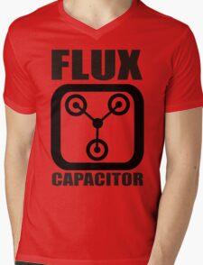 FLUX CAPACITOR TSHIRT Funny BACK TO THE FUTURE TEE Humor 80s DOC BROWN Marty VTG Mens V-Neck T-Shirt