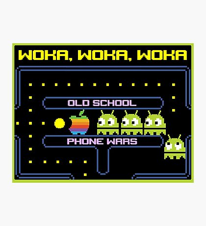 Old School Phone Wars Photographic Print