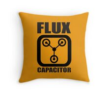 FLUX CAPACITOR TSHIRT Funny BACK TO THE FUTURE TEE Humor 80s DOC BROWN Marty VTG Throw Pillow