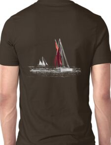 Isolated Yacht Carrick Roads Unisex T-Shirt
