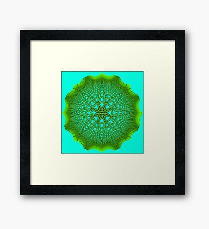Psychedelic Sphere 5 Green Framed Print