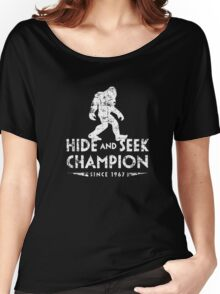 Hide &Seek Champion Since 1967 Shirt Funny Bigfoot Sasquatch Women's Relaxed Fit T-Shirt