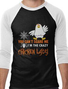 I'm the crazy Chiken lady Xmas shirt Men's Baseball ¾ T-Shirt