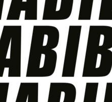 Habibi Slant Sticker