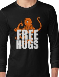 FREE HUGS TSHIRT Funny Humor TEE PEACE AND LOVE Big Bold Hippie TRENDY PARTY Long Sleeve T-Shirt