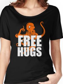 FREE HUGS TSHIRT Funny Humor TEE PEACE AND LOVE Big Bold Hippie TRENDY PARTY Women's Relaxed Fit T-Shirt