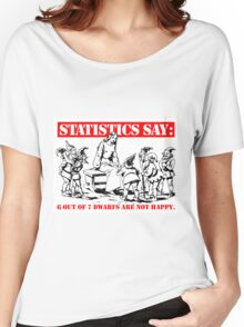 Statistics Say: 6 out of 7 dwarfs are not happy. Women's Relaxed Fit T-Shirt