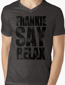FRANKIE SAY RELAX T-Shirt Funny Retro Soft GOES TO HOLLYWOOD 80s Music Tee Mens V-Neck T-Shirt