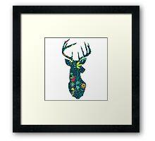 Flower Deer Framed Print