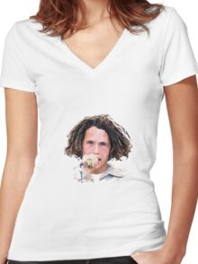 Zack De La Rocha Poly Art Women's Fitted V-Neck T-Shirt