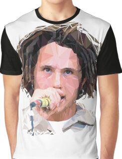 Zack De La Rocha Poly Art Graphic T-Shirt