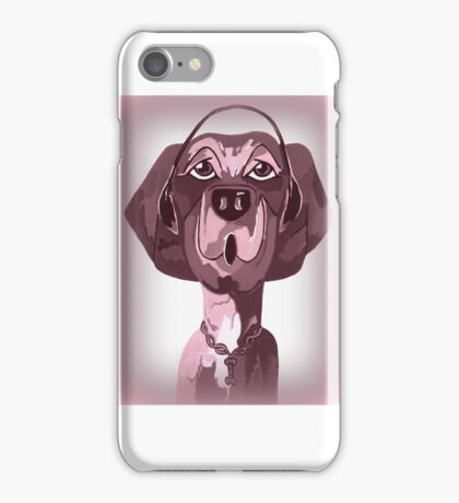 Doggie Singing The Blues iPhone Case/Skin