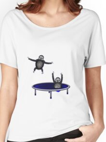trampolining sloths Women's Relaxed Fit T-Shirt