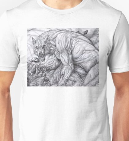 Werewolf - The deerkiller (bw) Unisex T-Shirt