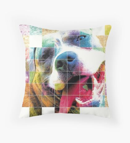 Layla - American Staffordashire Terrier Pit Bull Throw Pillow