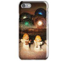 Christmas Scene. Greeting card. iPhone Case/Skin