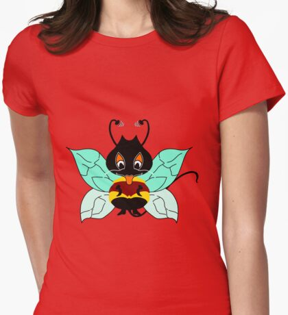 Buzzer the Bee Browny Mint Womens Fitted T-Shirt