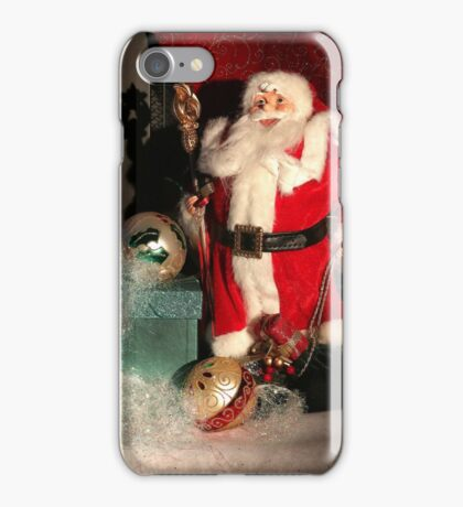 Christmas Scene. Greeting card. iPhone Case/Skin