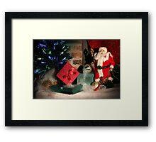 Christmas Scene. Greeting card. Framed Print