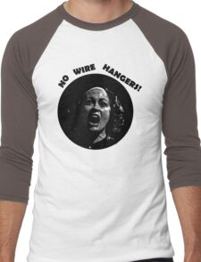 NO WIRE HANGERS! MOMMIE DEAREST Men's Baseball ¾ T-Shirt