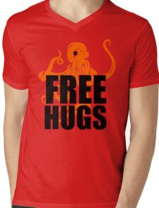 FREE HUGS TSHIRT Funny Humor TEE PEACE AND LOVE Big Bold Hippie TRENDY PARTY Mens V-Neck T-Shirt