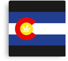 Colorado Weed Flag Canvas Print