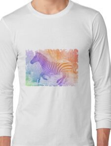 Zebra colours Long Sleeve T-Shirt