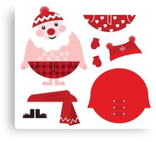 Cute happy Santa, christmas costume / creative Gift for Kids Canvas Print