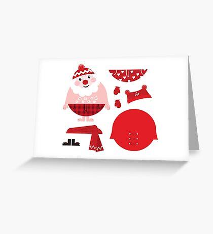 Cute happy Santa, christmas costume / creative Gift for Kids Greeting Card