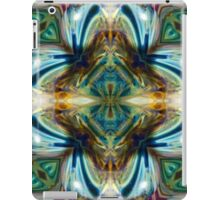 Teal Purple Abstract Geometric Psychedelic iPad Case/Skin