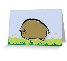 big brown bison Greeting Card
