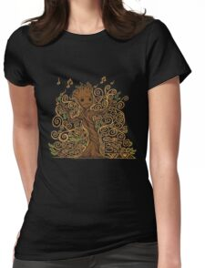 groot kid Womens Fitted T-Shirt