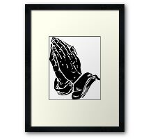 PRAYER 666 Framed Print