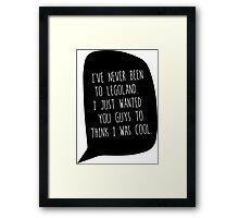 """""""I've Never Been To LegoLand""""-Troy Framed Print"""
