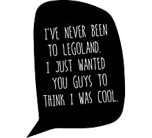 """I've Never Been To LegoLand""-Troy Photographic Print"