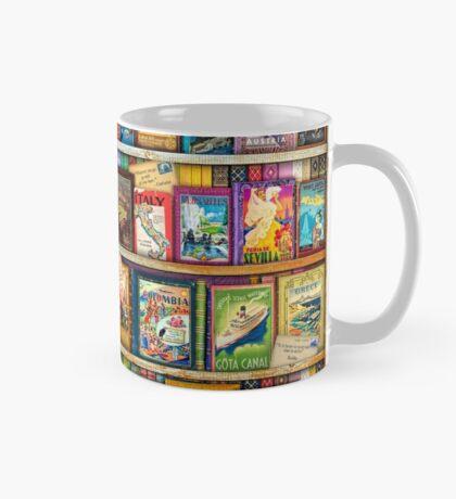 Travel Guide Book Shelf Mug