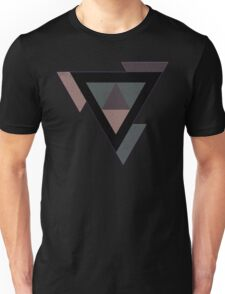 Abstract Triangle Geometry and Earth Tones T-Shirt