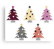 Christmas Trees collection : geometric set Metal Print