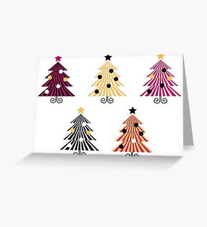 Christmas Trees collection : geometric set Greeting Card