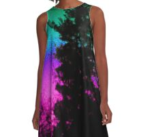 Neon Sunrise A-Line Dress