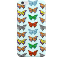 Butterflies - Digital Background - Wallpaper iPhone Case/Skin