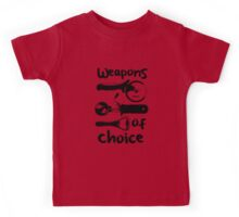 Weapons of choice - Black Kids Tee