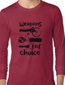 Weapons of choice - Black Long Sleeve T-Shirt