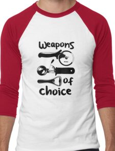 Weapons of choice - Black Men's Baseball ¾ T-Shirt