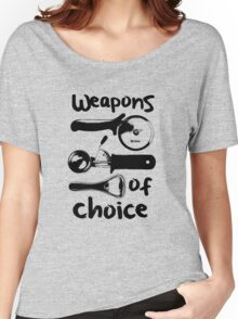 Weapons of choice - Black Women's Relaxed Fit T-Shirt