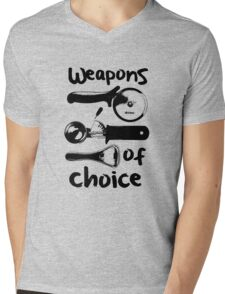 Weapons of choice - Black Mens V-Neck T-Shirt