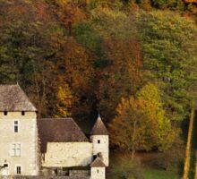 Autumn in the french vineyard Sticker
