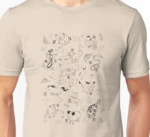 The 12 animals of the Chinese Zodiac Unisex T-Shirt